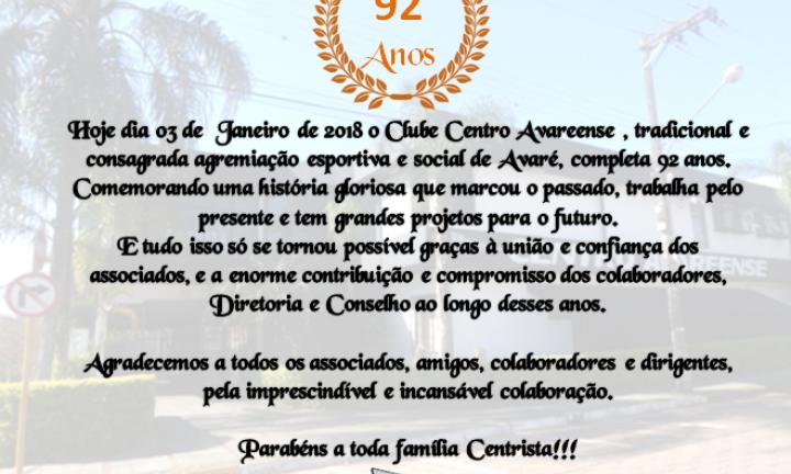 Aniversário Centro Avareense