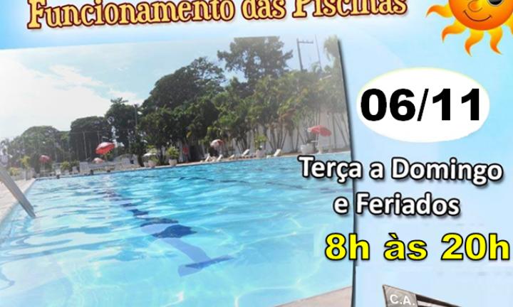 Fechamento piscina horário de verão