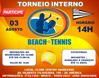 Torneio Interno de Beach Tennis