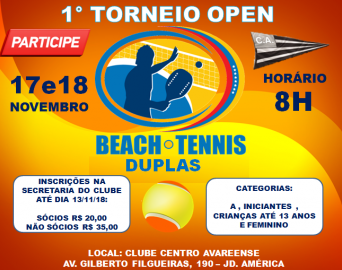 1° Torneio Aberto de Beach Tennis