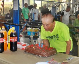 Aniversário dos queridos associados Genes Parise (99) e Sr. Milton Garcia (92)