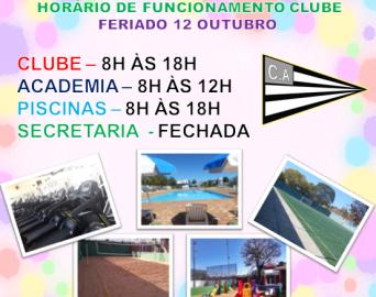Funcionamento Clube Feriado
