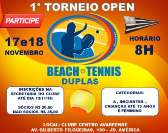 Torneio aberto Beach Tennis